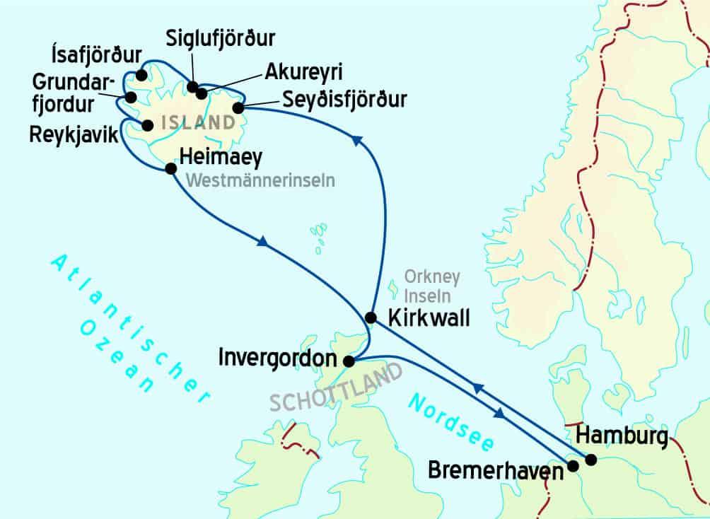 Island intensiv mit MS Ocean Majesty