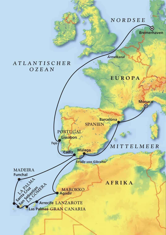 Weihnachtsreise Kurs Kanaren & Silvesterzauber vor Madeira mit MS Albatros