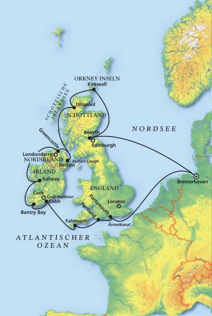 Das Beste rund um Großbritannien mit MS Artania