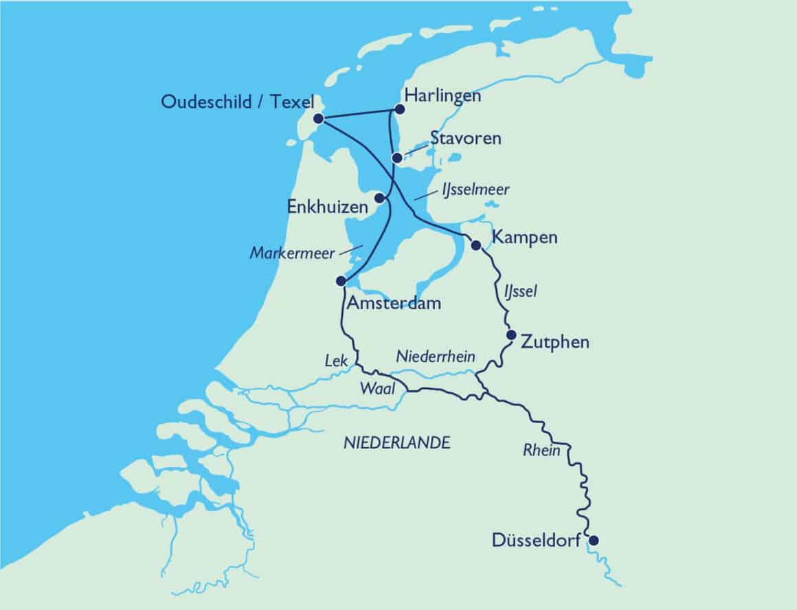Vom Ijsselmeer bis zur Nordsee