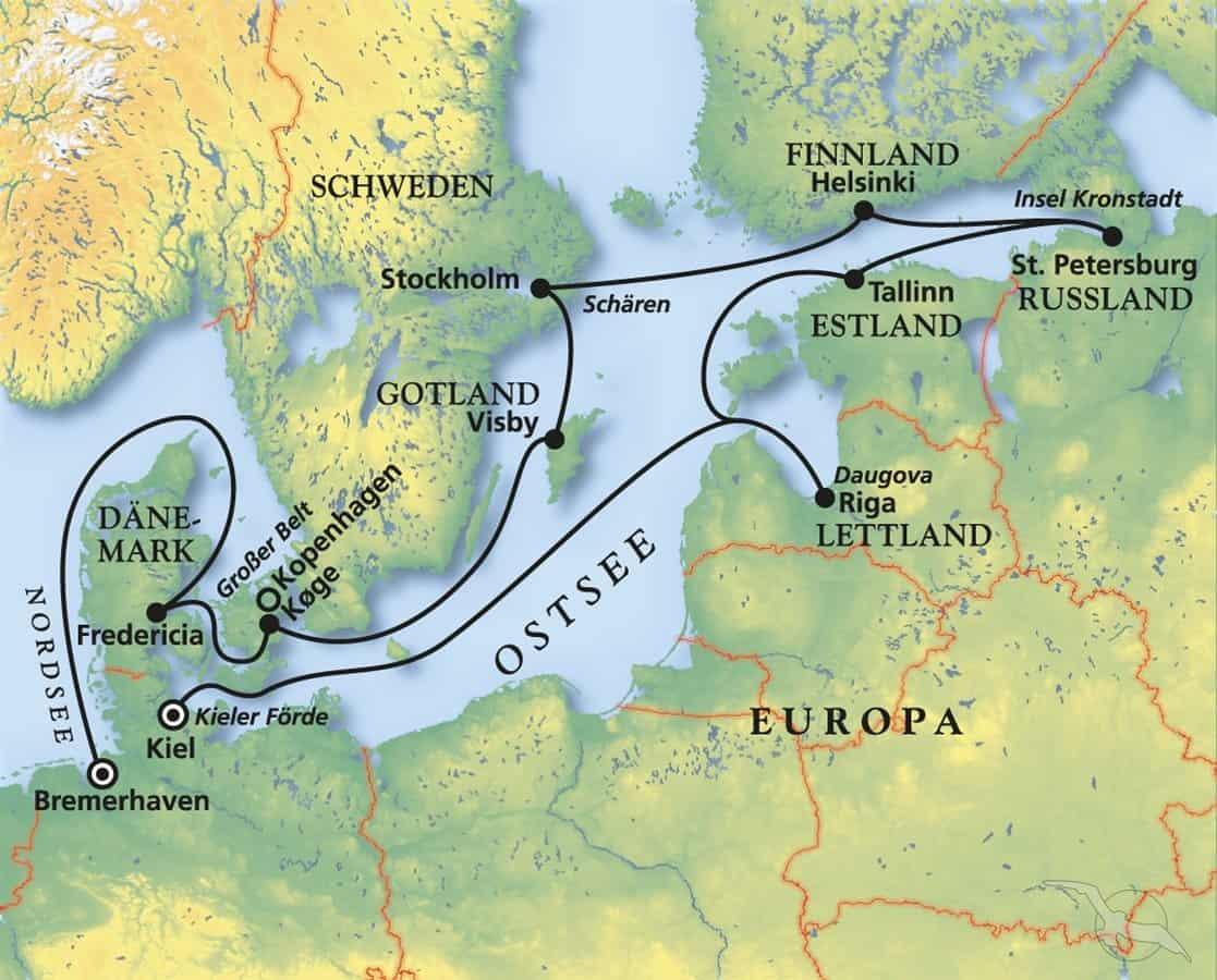 Sommertörn zu den Perlen der Ostsee